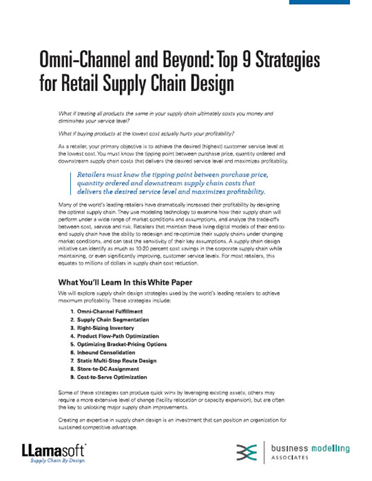 Omni-Channel and Beyond: Top 9 Strategies for Retail Supply Chain Design White Paper