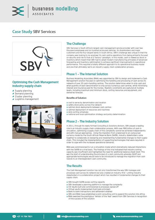 SBV Services Case Study Case Study